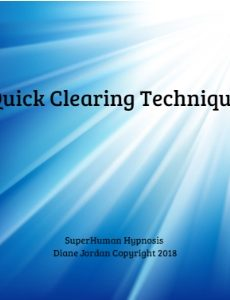 Quick Clearing Technique CD from SuperHuman Hypnosis